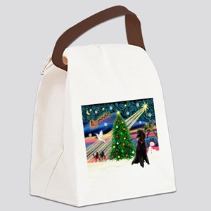XmasStar/Poodle (ST-B) Canvas Lunch Bag
