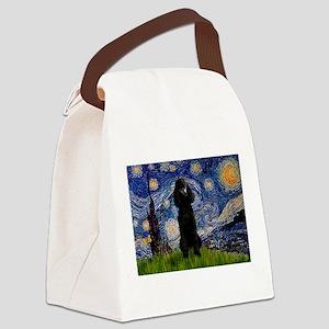 5.5x7.5-Starry-Pood-Blk-Paris Canvas Lunch Bag