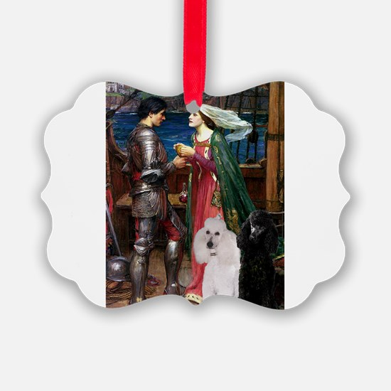 Tristan Poodle Pair (St) Ornament