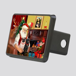 Santa's Two Pugs (P1) Rectangular Hitch Cover
