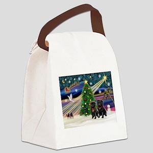card-XmasMagic-PUG-PR-BLACK Canvas Lunch Bag