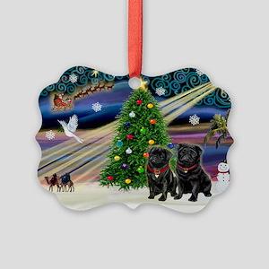 card-XmasMagic-PUG-PR-BLACK Picture Ornament
