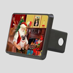 Santa's fawn Pug (#21) Rectangular Hitch Cover