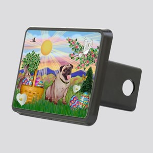 Easter Pug Rectangular Hitch Cover