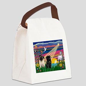 TILE-magicnite-PUGpair Canvas Lunch Bag