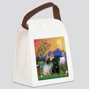 Fantasy Land / Two Pugs Canvas Lunch Bag