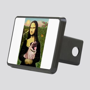 Mona Lisa Fawn Pug Rectangular Hitch Cover