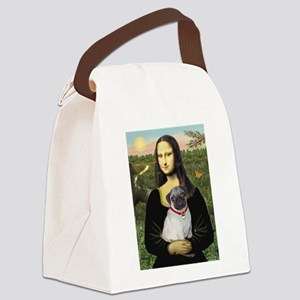 Mona's Fawn Pug Canvas Lunch Bag