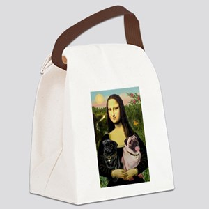 card-Mona-PugPair Canvas Lunch Bag