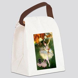The Star / Two Pugs Canvas Lunch Bag