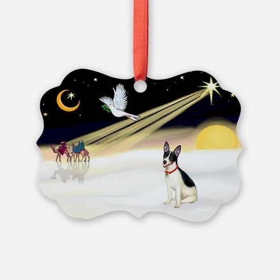 XmasDove/Rat Terrier 1 Ornament