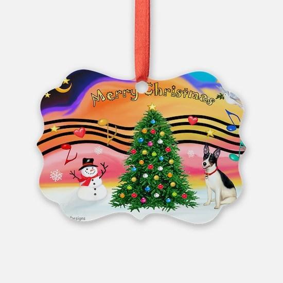 XmasMusic1/Rat Terrier 1 Ornament