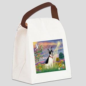 Cloud Angel & Rat Terrier Canvas Lunch Bag