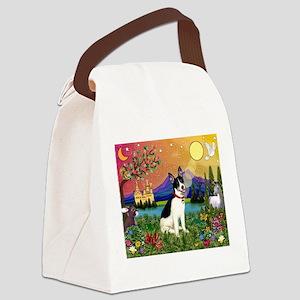 Rat Terrier in Fantasy Land Canvas Lunch Bag
