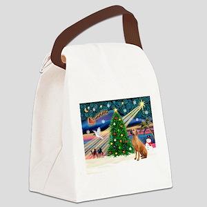 XmasMagic/Rhodesian RB Canvas Lunch Bag