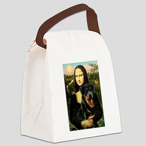 Mona Lisa & Rottie Canvas Lunch Bag