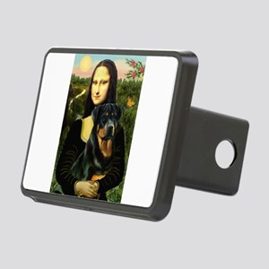 Mona Lisa & Rottie Rectangular Hitch Cover