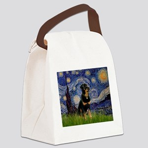8x10-Starry-Rottie5 Canvas Lunch Bag
