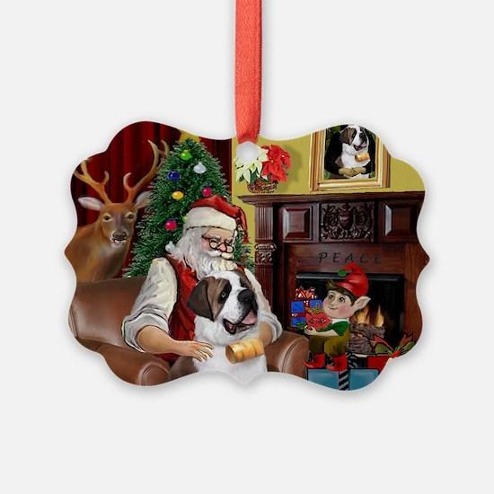 Santa's Saint Bernard Ornament