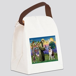 StFrancis/St Bernard Canvas Lunch Bag