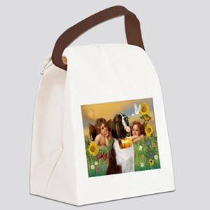 TILE-Cherubs-SaintBernard1 Canvas Lunch Bag
