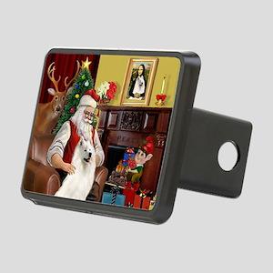 Santa's Samoyed Rectangular Hitch Cover