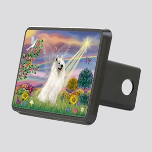 Cloud Angel & Samoyed Rectangular Hitch Cover