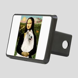 Mona Lisa / Samoyed Rectangular Hitch Cover