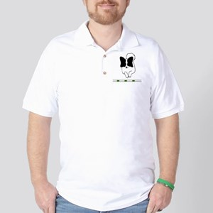 Black Papillon Golf Shirt