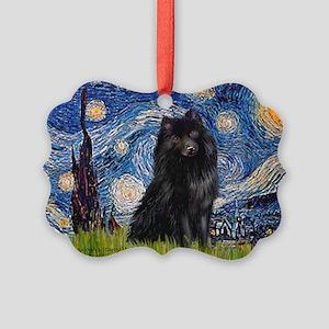MP-Starry-Schipperke Picture Ornament