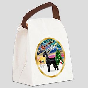 XmasMagic/Schnauzer (G) Canvas Lunch Bag