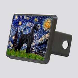 Starry Night Schnauzer Rectangular Hitch Cover