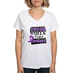 Tough Girls Pancreatic Cancer Women's V-Neck T-Shi