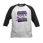 Tough Girls Pancreatic Cancer Kids Baseball Jersey
