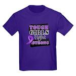 Tough Girls Pancreatic Cancer Kids Dark T-Shirt