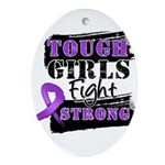 Tough Girls Pancreatic Cancer Ornament (Oval)
