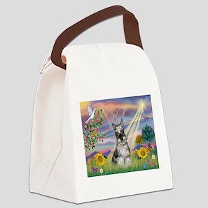 Cloud Angel /Min Schnauzer(g& Canvas Lunch Bag