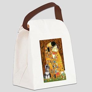 The Kiss / Min Schnauzer Canvas Lunch Bag