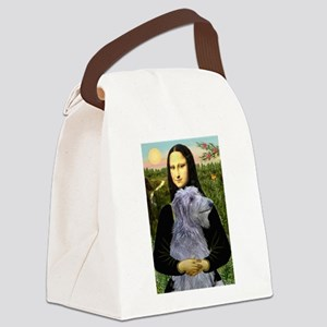 TILE-Mona-ScottishDrhnd Canvas Lunch Bag