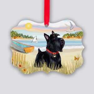 Rowboat & Scottie Picture Ornament