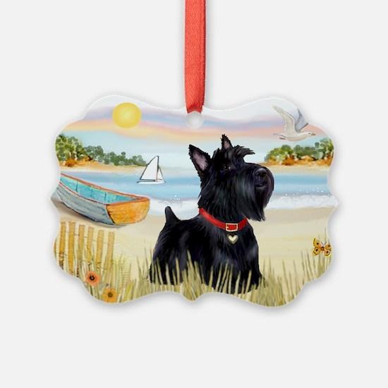 Rowboat & Scottie Ornament