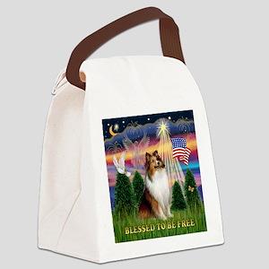 TILE-Free2-Sheltie-Blzsit Canvas Lunch Bag