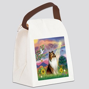 Cloud Angel Sheltie Canvas Lunch Bag