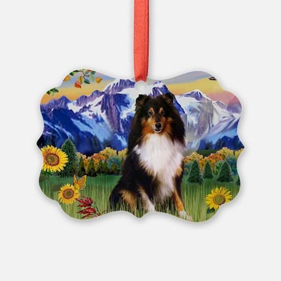 Cute Shetland sheepdog Ornament