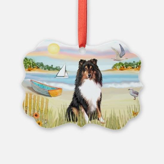 Rowboat / Sheltie (t) Ornament