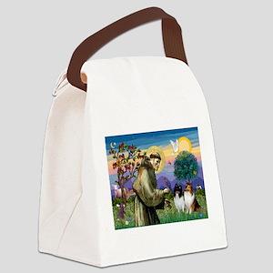 Saint Francis Sheltie Pair Canvas Lunch Bag