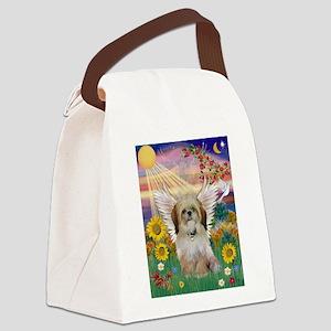 Autumn Sun & Shih Tzu Canvas Lunch Bag