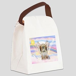 Angel Shih Tzu in Clouds Canvas Lunch Bag