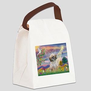 Cloud Angel & Shih Tzu Canvas Lunch Bag