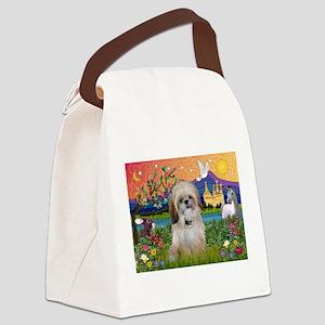 Shih Tzu in Fantasy Land Canvas Lunch Bag